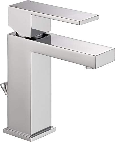 Delta Modern Single-Handle Bathroom Faucet with Drain Assembly, Chrome 567LF-PP Renewed