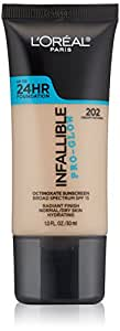 L'Oreal Paris Cosmetics Infallible Face Pro-Glow Foundation, Creamy Natural, 1 Fluid Ounce