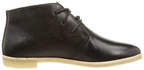 Clarks Phenia Desert, Botas para mujer Negro (Black Leather)