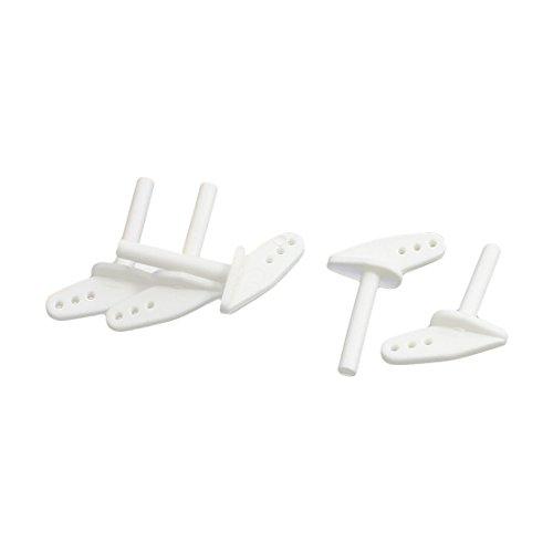 5Pcs RC Plane Parts White Nylon Micro Control Horns 12 x 7 x 12mm