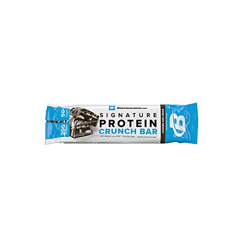 Bodybuilding.com Cookies and Cream Signature Protein Crunch Bar | 20g Whey Protein Low Sugar | Gluten Free No Artificial Flavors | 1 Sample Bar