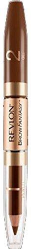 Revlon Brow Fantasy Pencil & Gel, Brunette [105] 0.051 oz (Pack of 2) (Revlon Brow Fantasy Pencil & Gel Brunette 105)