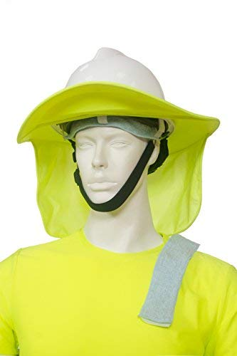 Hard Hat Sun Shade & FREE Sweatbands (2 Nos) Hardhat Neck Protector Shade Fits Regular & Full Brim Hardhats Construction Helmets – neck protection
