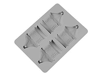 Moldes de alimentos DIY carrusel moldes para Hornear Herramientas de decoración de Pasteles de Silicona Creativo Modelo de aromaterapia (Gris): Amazon.es: ...