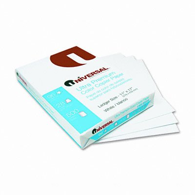 Universal : Premium Color Copy/Laser Paper, 98 Brightness, 28lb, 11 x 17, 500 Sheets/Ream -:- Sold as 2 Packs of - 500 - / - Total of 1000 Each