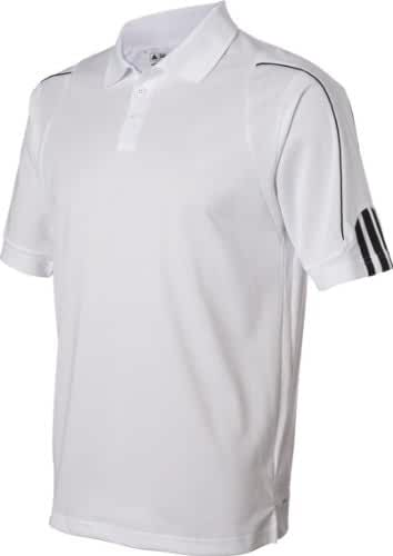 Adidas Men's ClimaLite 3-Stripes Cuff Piqué Polo