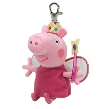 TY Beanie Peppa Pig - Princess keyclip Llavero: Amazon.es ...