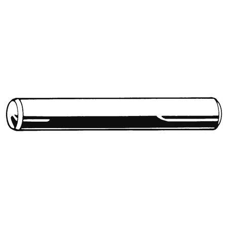 Dowel Pin, Steel, Plain, 1/4in.dia, PK5 (Pack of 7)