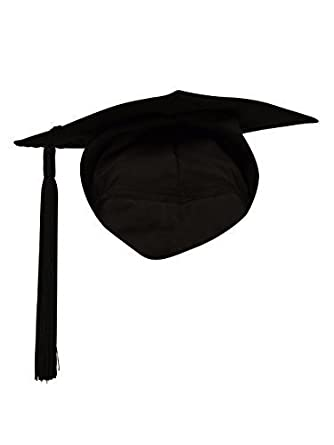 b2a29303f Ashington Gowns Elasticated Mortarboard with Tassel, University Graduation  Cap with Elastic, Graduation Hat Suitable