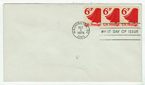 United States Liberty Bell Postage Stamp (Coils - Strip of Three) Original First Day Cover # 1518