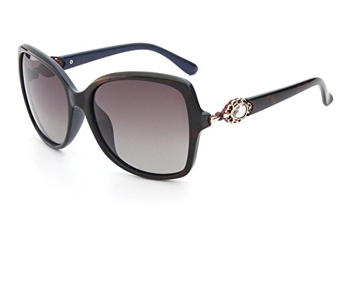 clearance women's polarized sunglassessunglasses,Green frame tea slice 5220