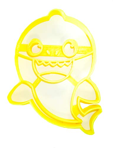(BABY SHARK CHILDREN SONG VIRAL SOCIAL MEDIA VIDEO SPECIAL OCCASION COOKIE CUTTER BAKING TOOL 3D PRINTED MADE IN USA)