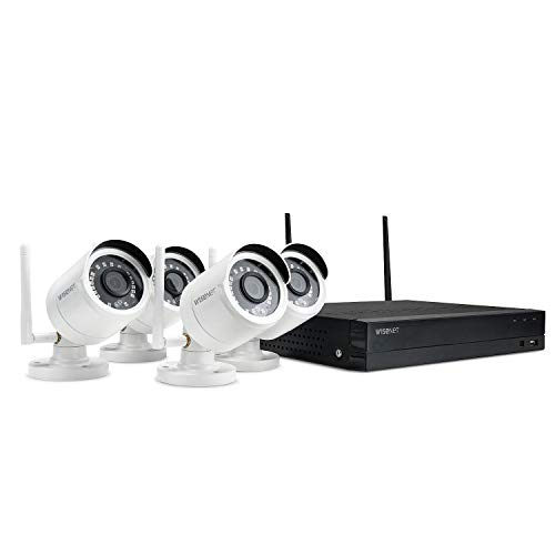 Wisenet 4-Channel Wi-Fi 1080p NVR Surveillance System with 1TB HD