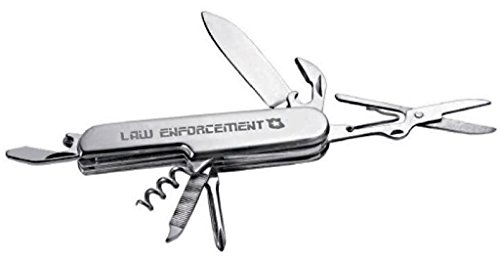 NEW GIFT: Law Enforcement / Policeman / Sheriff Tool Army Police Man Swiss Style STAINLESS STEEL Army Survival Multi Function Tool KNIFE SCISSORS SCREWDRIVER FBI ()
