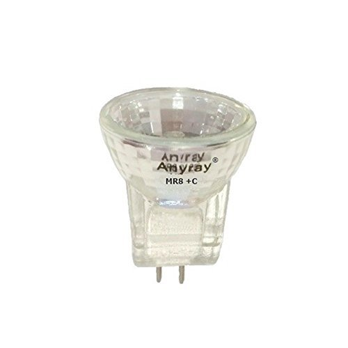 Anyray A2011Y (1-bulb) MR8 5-Watts Fiber Optic 6V 5W Reflector Light Bulb (Gz4 Base Eiko Light Bulb)