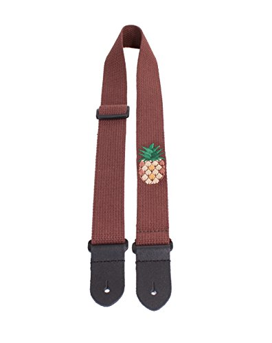 Perris Leathers CWS15EMB-7110 Cotton Ukulele Strap with Embroidered Design- 1.5