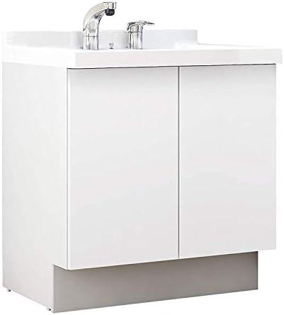 イナックス(INAX) 洗面化粧台 J1プラスシリーズ 幅75cm 両開きタイプ シングルレバーシャワー水栓 J1NT755SYYS2H 一般地用 グロスホワイト(YS2H)