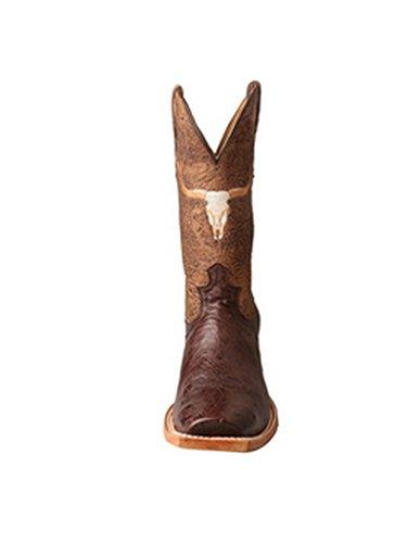 Vridd X Vestlige Støvler Menn Gull Spenne Rancher Longhorn Tobac Mral014 Tobac Craquel Bur
