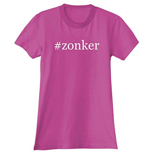 #Zonker - A Soft & Comfortable Hashtag Women's Junior Cut T-Shirt, Fuchsia, Large