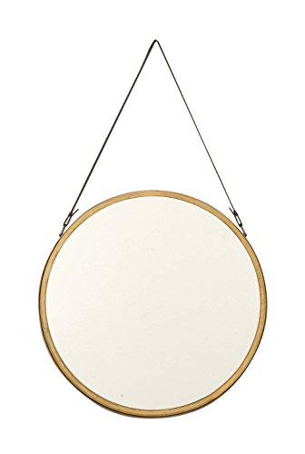 Deco 79 98730 Round Metal Wall Mirror, - Mirror Gold Round