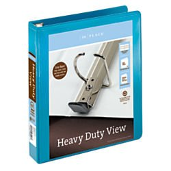 [IN]PLACE Heavy-Duty View Binders with EZ Comfort D-Ring 1-1/2\