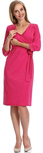 Be Mammy Vestido Premamá para Mujer Karen Rosa