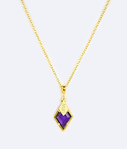 Amethyst Necklace, February Birthstone Pendant Necklace [DPwDIA] ()