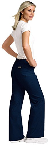 Urbane Women's Essentials Collection Relaxed Drawstring Scrub Pant,Navy, Medium
