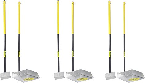 Flexrake 67W Large Scoop and Spade Set with 36-Inch Cherry Stained Wood Handle (3-Pack) ()