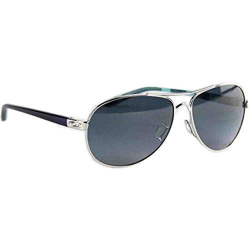 Oakley Feedback Polarized Aviator Sunglasses,Polished Chrome,59 - Aviator Oakley Sunglasses Womens