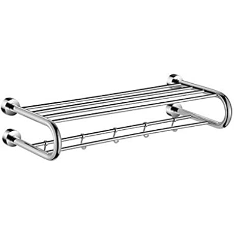Contemporary Chrome Finish Brass Towel Rack