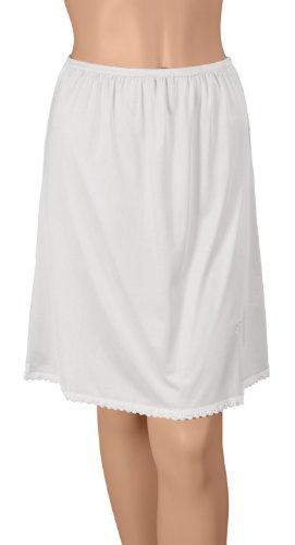 Gemsli Classica Nylon Half Slip with Tiny Lace HK300 - White XL- 20