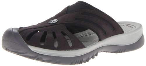 KEEN Womens Rose Slide Sandal Black/Neutral Gray