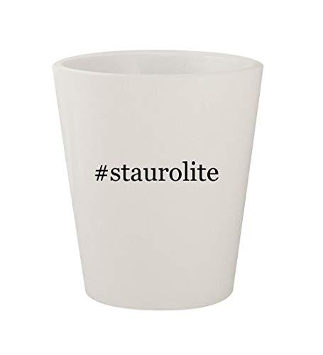 #staurolite - Ceramic White Hashtag 1.5oz Shot (Staurolite Crystal)
