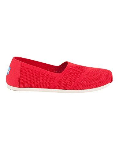 Toms Womens Classic Slip-on Shoes Maglia Rossa Personalizzata
