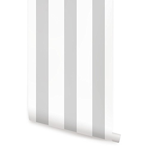 Vertical Stripe Grey Wallpaper - 2ft x 4 ft - Single - by Simple - Grey Single Stripe
