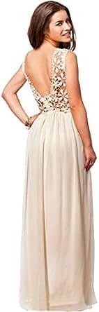 Women Dress - Chiffon Dress - Dress - Openwork Lace Dress Skirt -c79
