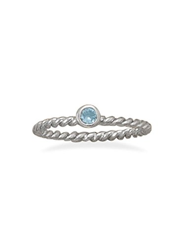 Stackable March Ring Rhodium o