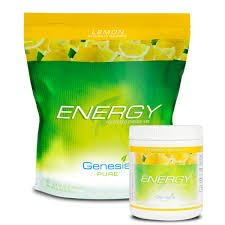 Genesis Pure Energy With Wheat Grass Lemon Blast Sugar Free Powder Mix Dietary Supplement Sports Drink In Tub