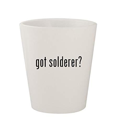 got solderer? - Ceramic White 1.5oz Shot Glass