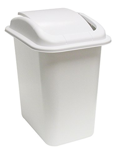 United Solutions WB0233 28-Quart Slim Fit Wastebasket with S