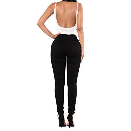 M Lunghi Strappati Size Black Junfelicia Pantaloni Red Jeans Aderenti Skinny color tqtzxwBAX