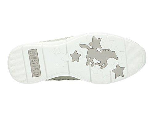 Mustang Damen Sneaker Halbschuhe Memory Sole Silber Gr 38