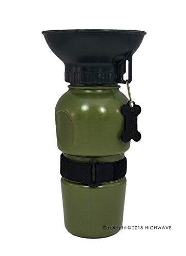 Highwave AutoDogMug (Army Green) Pet Sport Bottle -Portable Water Bowl -Holds 20 oz