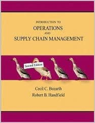 2nd Edition Introduction to Operations and Supply Chain Management