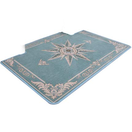 bluee 70x140cm(28x55inch) Doormat,Entrance Carpet The Carpet for The Living Room No-Slipping Mat Easy to Clean Durable-Brown 60x90cm(24x35inch)