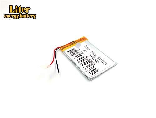 BIHUADE 3.7V 800mAh 314362 Polymer Lithium Li-ion Battery Rechargeable Lithium Polymer Li-Po Battery for MP4 GPS MP3 Bluetooth Stereo DIY Gift (314362)