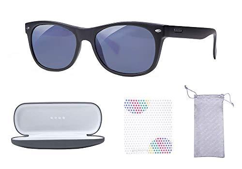 EnChroma Color Blind Glasses - Ellis - Cx3 Sun Outdoor for Deutan and Protan Color Blindness (Black)