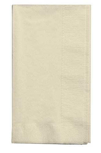 (Creative Converting Touch of Color 2-Ply 50 Count Paper Dinner Napkins, Ivory)