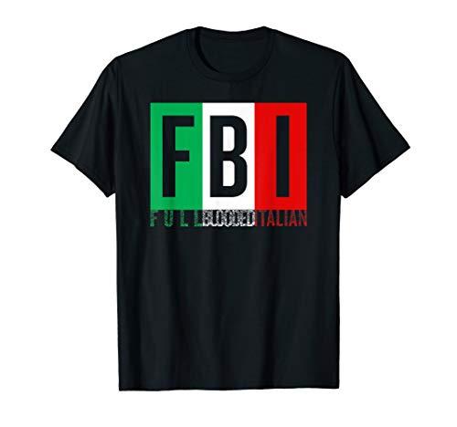 Full Blooded Italian T-shirt Halloween Christmas Funny -